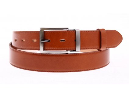 Pánský společenský kožený opasek Penny Belts 35-020-1-41 koňakově hnědý