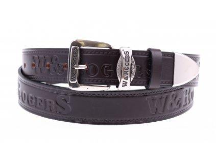 Pánský kožený opasek Penny Belts W&Rogers 43 tmavě hnědý NADMĚRNÁ DÉLKA