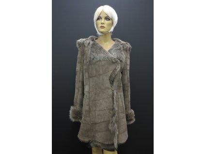 Velurový kabát hnědý 6273