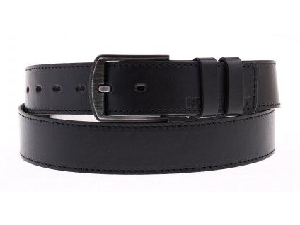 Pánský kožený opasek Black Hand 112-98 černý