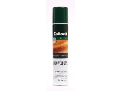 Collonil Nubuk + Velours tmavě šedý impregnační sprej vhodný na dobarvení veluru, nubuku, semiše a textilu