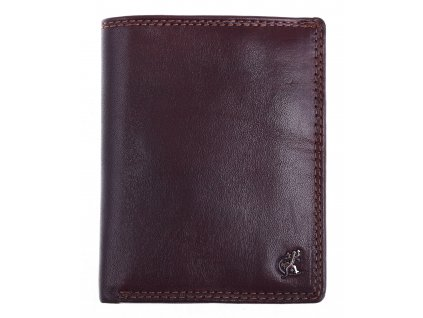Pánská kožená peněženka na výšku Cosset 4472 Komodo hnědá