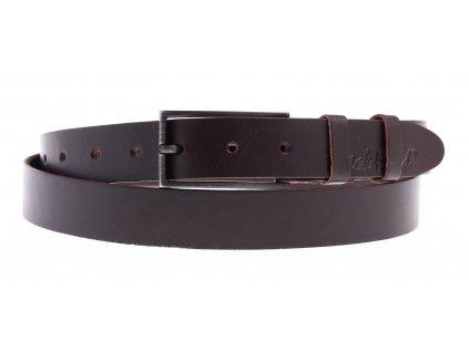 Dámský kožený opasek Black Hand 102-93 tmavě hnědý