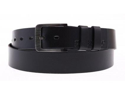 Pánský kožený opasek Black Hand 106-98 černý