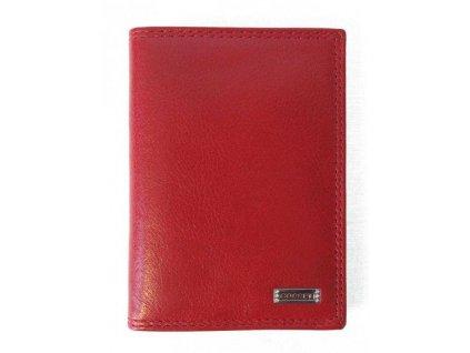 Dámská kožená dokladovka Cosset 4424 Red Flamengo