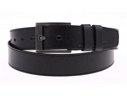 Pánský kožený opasek Black Hand 128-98 černý