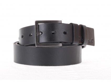 Krásný černý kožený opasek Black Hand 123-98