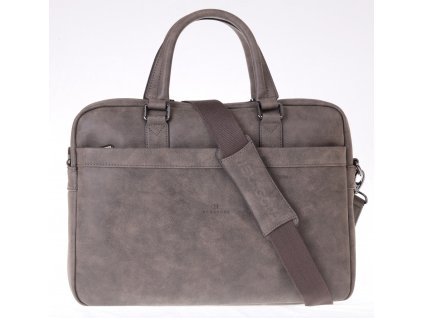 Pánská business taška Hexagona 784627 šedohnědá koženka