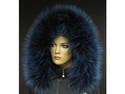 Kožešinový lem na kapuci z finského mývalovce 1053 BLUE