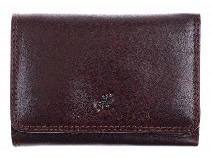hnědá kožená peněženka Cosset 4499 Komodo