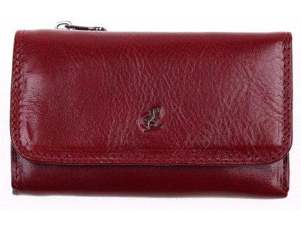 Kožená peněženka Cosset 4510 Komodo tmavě červená z kvalitní odolné kůže