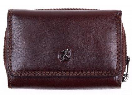 Menší dámská kožená peněženka Cosset 4511 Komodo hnědá