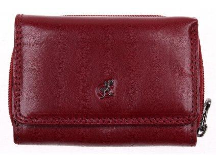 Menší dámská kožená peněženka Cosset 4511 Komodo vínová