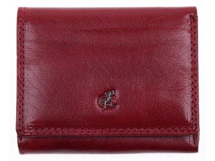 Menší dámská kožená peněženky Cosset 4508 Komodo bordó