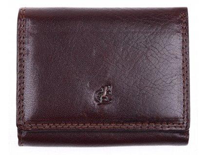 Malá dámská kožená peněženka Cosset 4508 Komodo hnědá Cosset 4508 Komodo hnědá