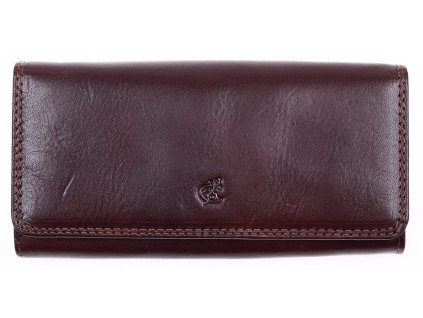 Praktická Hnědá kožená peněženka Cosset 4467 Komodo