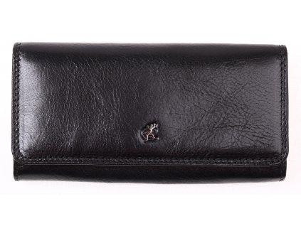 Černá kožená peněženka Cosset 4467 Komodo