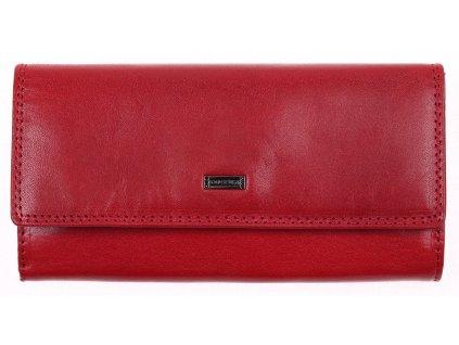 Dlouhá kožená peněženka Cosset 4493 Red Flamengo červená