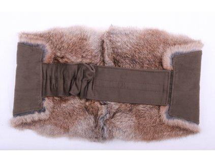 Ledvinový pás kožešinový LP40 velikost M králík 85 - 105 cm