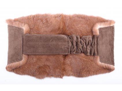 Ledvinový pás kožešinový LP41 velikost M králík 85 - 105 cm