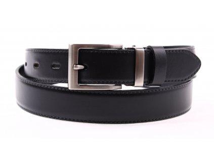 Pánský společenský kožený opasek Penny Belts 302 černý