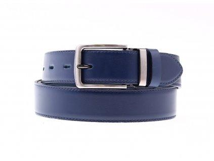 Pánský společenský kožený opasek Penny Belts 3544 tmavě modrý