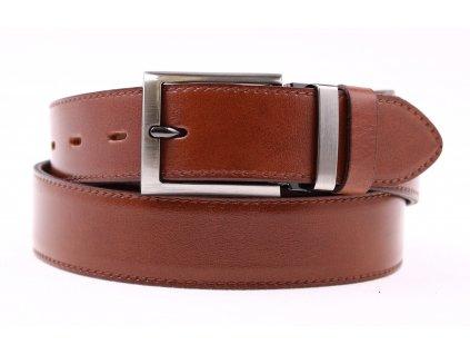 Pánský společenský kožený opasek Penny Belts 3545 hnědý