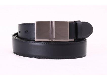 Pánský společenský kožený opasek Penny Belts 3547 černý