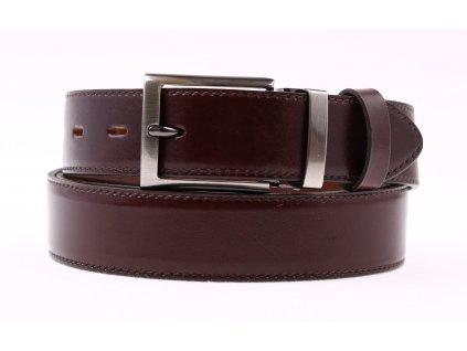 Pánský společenský kožený opasek Penny Belts 3546 tmavě hnědý