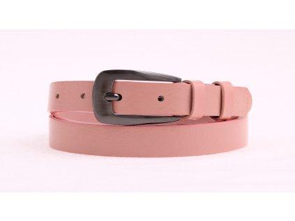 Dámský úzký kožený opasek Penny Belts 20-179-503 růžový