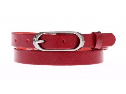 Dámský úzký kožený opasek Penny Belts 20-175-93 červený