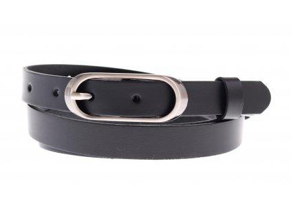 Dámský úzký kožený opasek Penny Belts 20-175-63 černý