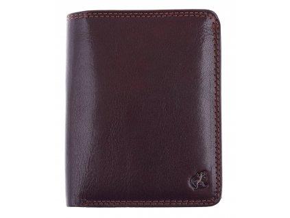 Velká pánská kožená peněženka Cosset 4416 Komodo hnědá