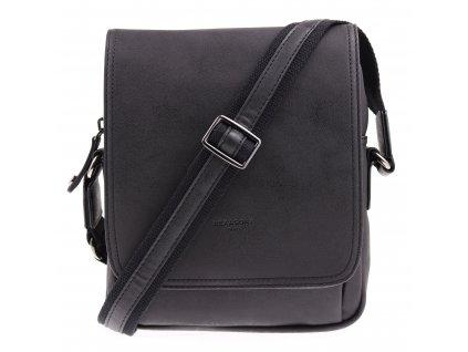Pánská taška přes rameno ze syntetické kůže Hexagona 784631 černá