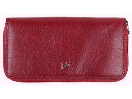 Velká dámská kožená peněženka penál Cosset 4492 Komodo bordó