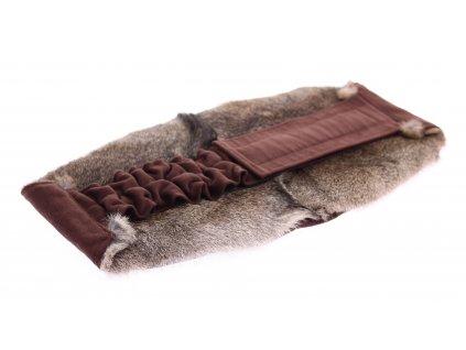 Ledvinový pás kožešinový LP111 velikost L králík