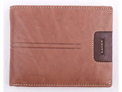 Pánská kožená peněženka Lagen LG1133 světle hnědá
