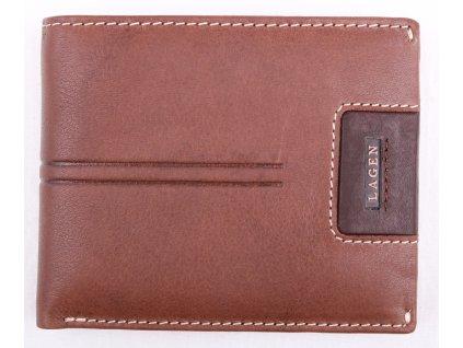Pánská kožená peněženka Lagen LG1134 světle hnědá