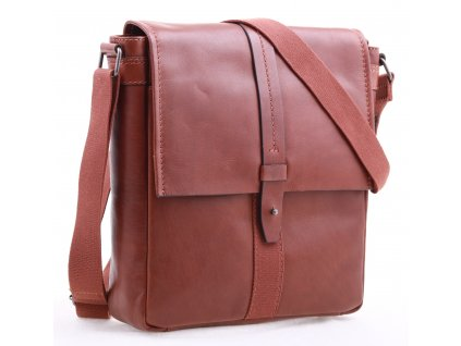 Pánská kožená taška přes rameno Lagen LN 22420 koňakově hnědá