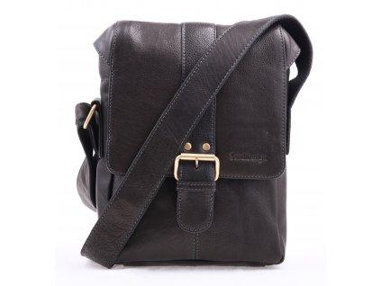 Pánská kožená taška přes rameno Sendi Design CT 712 černá