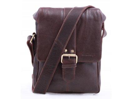 Pánská kožená taška přes rameno Sendi Design CT 712 hnědá