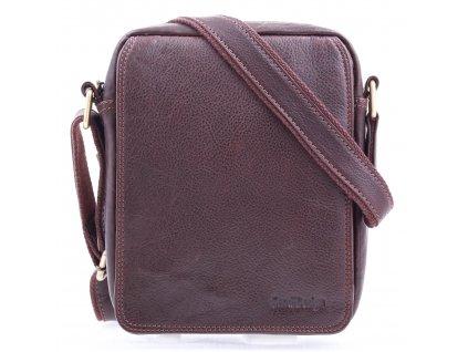 Pánská kožená taška přes rameno Sendi Design CT52005 hnědá