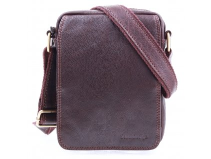 Pánská kožená crossbody taška Sendi Design CT52006 hnědá