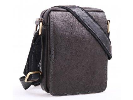 Pánská kožená crossbody taška Sendi Design CT52006 černá