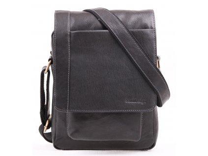 Pánská kožená taška přes rameno Sendi Design CT 704 černá