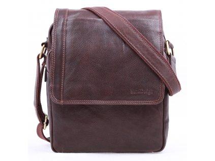 Pánská kožená taška přes rameno Sendi Design CT 702 hnědá