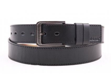 Pánský kožený opasek Black Hand 131-98 černý