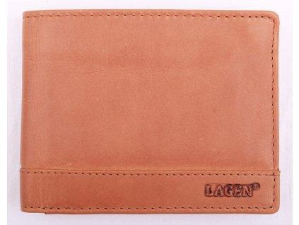 Pánská kožená peněženka Lagen 1996V koňakově hnědá