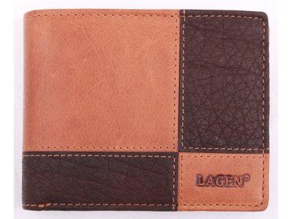 Pánská kožená peněženka Lagen 2108T hnědá koňak