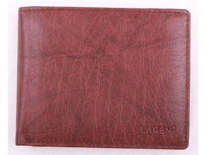 Pánská kožená peněženka Lagen V76 Old hnědá